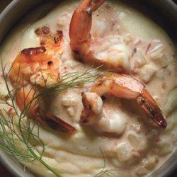 Shrimp Scampi with Quick Preserved Lemon and Fennel on Polenta recipe