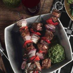 Lamb Kebabs with Mint Pesto recipe