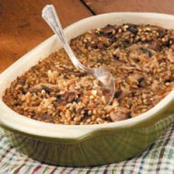 Mushroom Barley Casserole recipe
