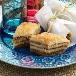 Almond Pistachio Baklava recipe