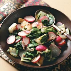 Bok Choy and Radishes recipe