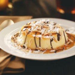 Almond Coconut Flans recipe