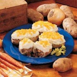 Beef and Potato Boats recipe