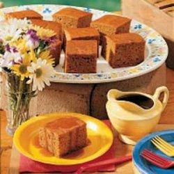 Pumpkin Cake with Caramel Sauce recipe