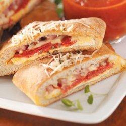 Ham and Cheese Calzones recipe