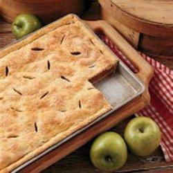 Farm Apple Pan Pie recipe