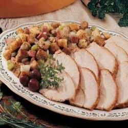 Turkey with Country Ham Stuffing recipe
