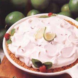 Raspberry Lime Pie recipe