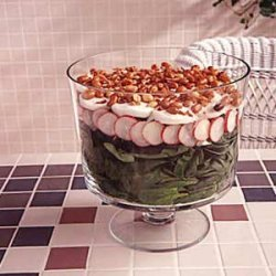 Simple Layered Spinach Salad recipe