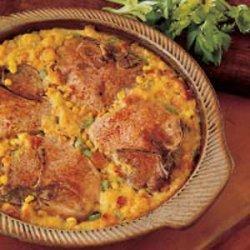 Pork Chops with Corn Dressing recipe