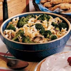 Broccoli Noodle Side Dish recipe