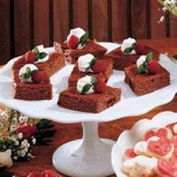 Raspberry Swirled Brownies recipe