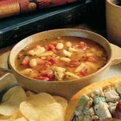 Bean, Chicken and Sausage Soup recipe