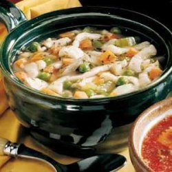 Turkey Soup with Slickers recipe