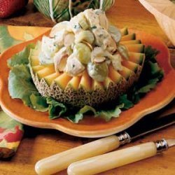 Chicken Salad on Cantaloupe Rings recipe