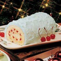 Eggnog Cake Roll recipe