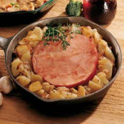 Ham Steak with Potatoes and Onions recipe