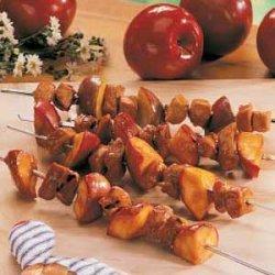 Pork and Apple Skewers recipe