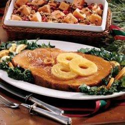 Ham Slice with Pineapple-Orange Sauce recipe