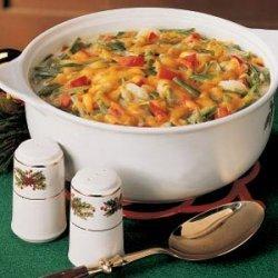 Festive Green Bean Casserole recipe