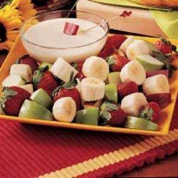 Fruit with Yogurt Dip recipe