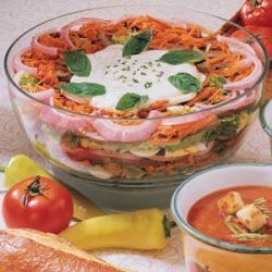 Layered Roast Beef Salad recipe