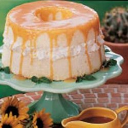 Angel Food Cake With Caramel Sauce recipe