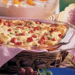 Ham and Swiss Strata recipe