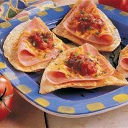 Ham N Cheese Tortillas recipe