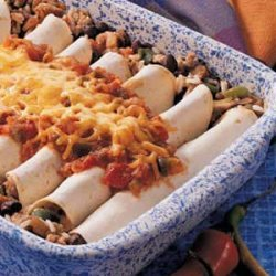 Sausage Bean Burritos recipe