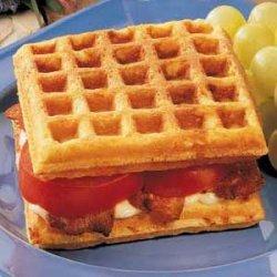 Cornmeal Waffle Sandwiches recipe