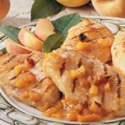 Grilled Chicken with Peach Sauce recipe