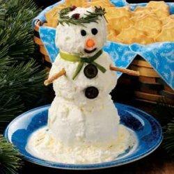 Snowman Cheese Spread recipe