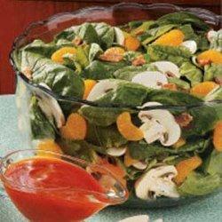 Spinach Salad with Oranges recipe
