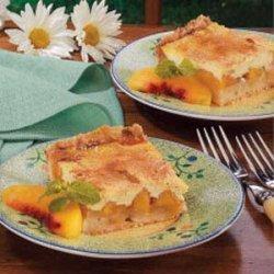 Sour Cream Peach Kuchen recipe