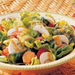 Salad with Tomato-Green Pepper Dressing recipe