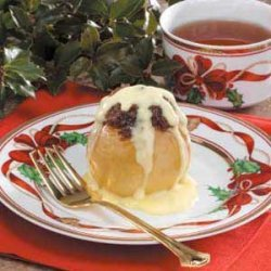 Stuffed Apples with Custard Sauce recipe