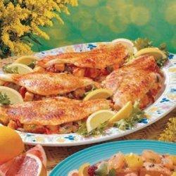 Stuffed Fish Fillets recipe