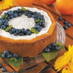 Blueberry Orange Cheesecake recipe