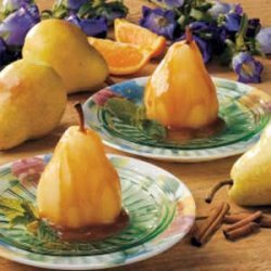 Pears with Spiced Caramel Sauce recipe
