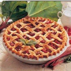 Raspberry Rhubarb Pie recipe
