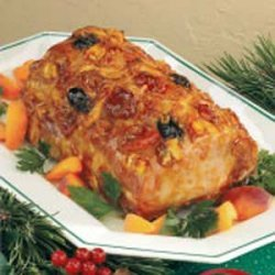 Glazed Holiday Pork Roast recipe