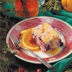Cranberry Cake with Orange Sauce recipe