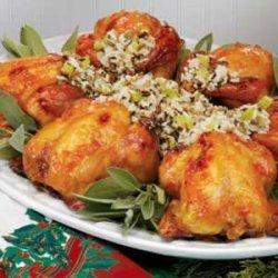 Wild Rice Stuffed Cornish Hens recipe
