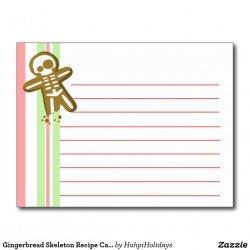 Gingerbread Skeletons recipe