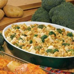 Stuffing-Topped Chicken and Broccoli recipe