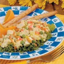 Curried Chicken Barley Salad recipe