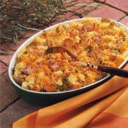 Colorful Pasta with Ham recipe