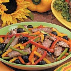 Pepper Steak Salad recipe