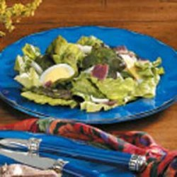 Wilted Lettuce Salad with Bacon Dressing recipe